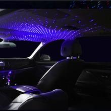 Telhado do carro estrela luz interior led estrelado laser atmosfera ambiente projetor usb decoração de automóvel noite decoração para casa luzes galáxia