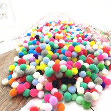 25mm/ About 60pcs Multicolor Plush Balls Real Fur Ball Pompom Pom Poms Soft Pompon for DIY Home Wedding Party Decoration