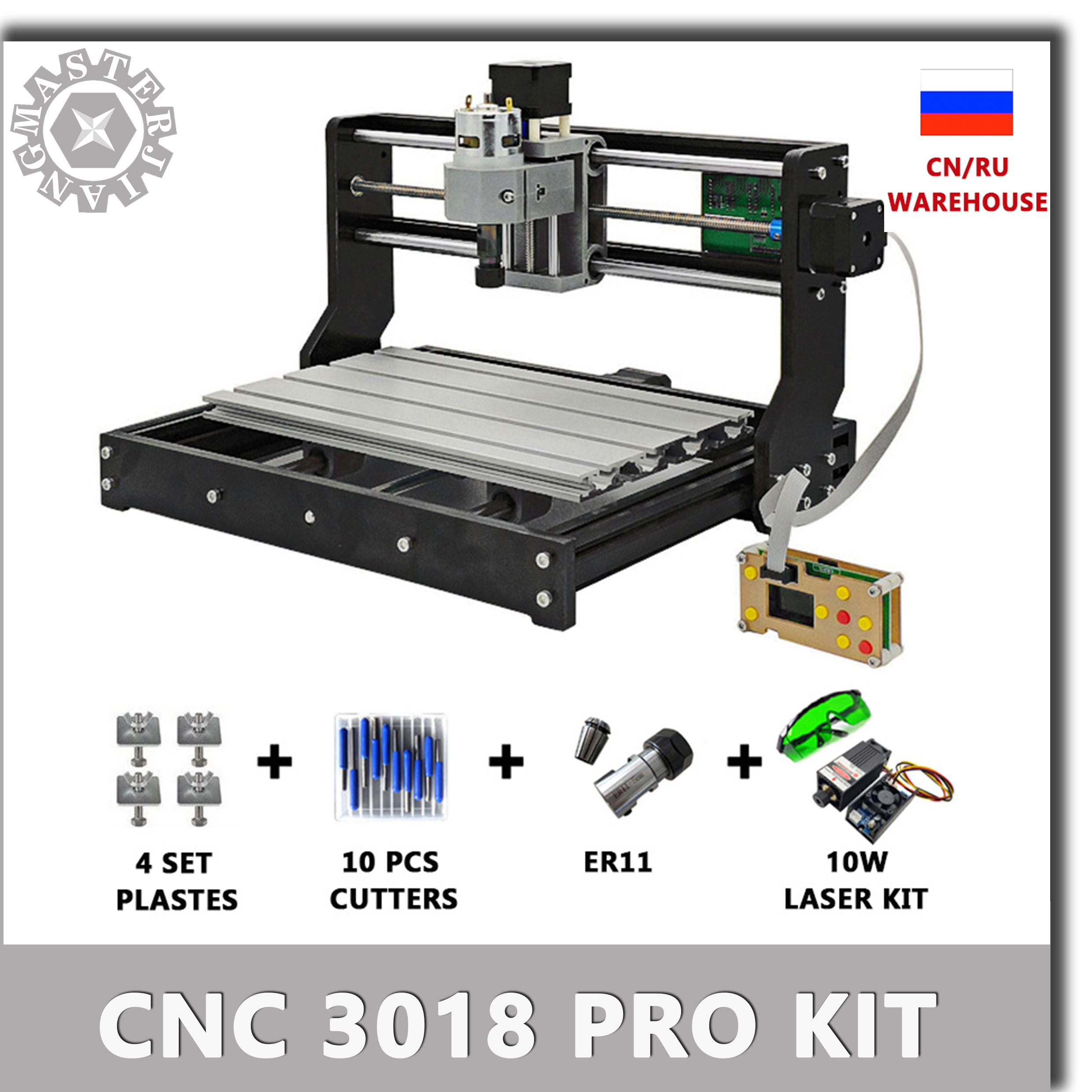 Upgraded CNC Control Board 3 Axis GRBL 1.1 Wood Router//Laser Engraving Machine Grbl Controller Board for 3018pro//3018pro-M DIY Mini CNC Engraver Machine