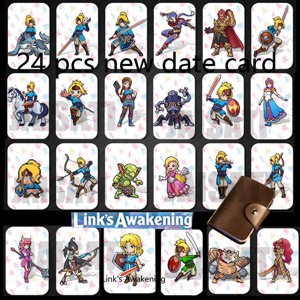 24pcs NTAG215 Zelda <font><b>NFC</b></font> <font><b>Card</b></font> 20 Heart Wolf Revali Mipha Daruk Urbosa For <font><b>amiibo</b></font> Game the Legend of Breath of the wild NS <font><b>Switch</b></font> image