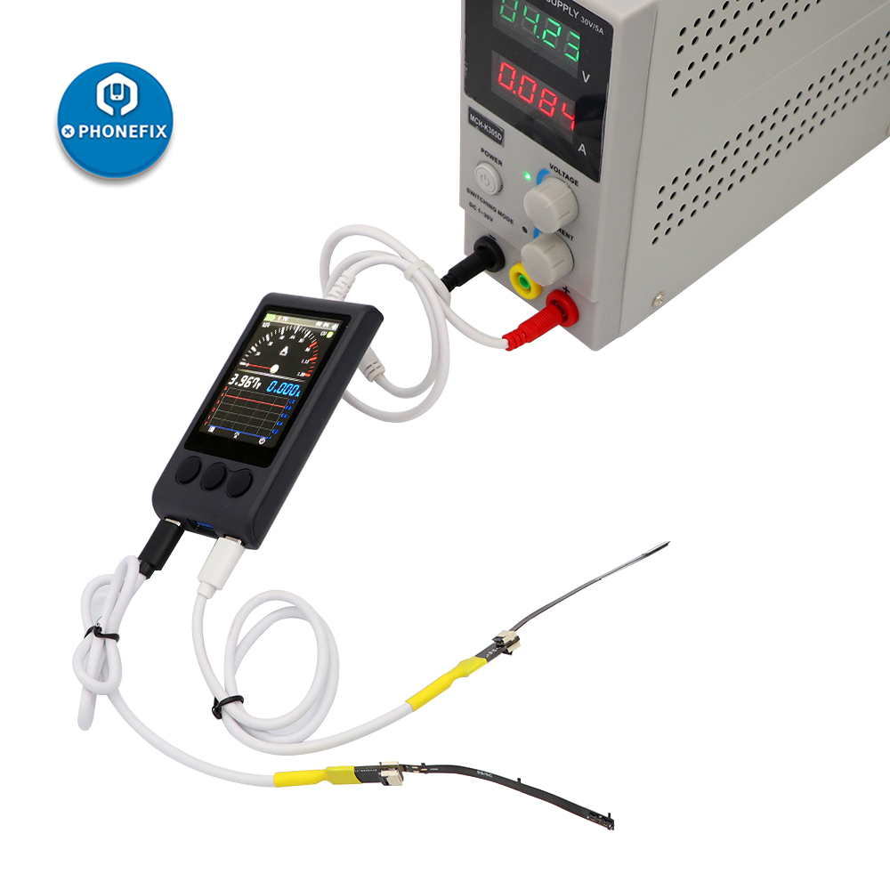 PHONEFIX Ibootpower DC Power Test Box For IPhone Android Repair Smart Display DC Power Supply Cable Mobile Phone Repair Cable