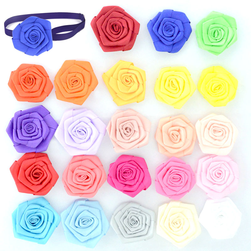 Multifunction Dog Accessories Dog Cat Collar Flower Charms Removable Collar Accessories Dog Grooming Bows for Wedding/Holiday