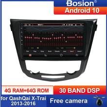 Bosion-Radio Multimedia PX6 con GPS para coche, Radio con reproductor, Android 10, 10,1 pulgadas, navegación para Nissan QashQai x-trail SWC, 2013, 2014, 2015, 2016