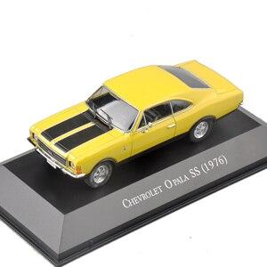 Классическая модель автомобиля Атлас 1:43, желтая модель автомобиля Chevrolet Opala SS, коллекция литых автомобилей, украшение комнаты, Подарочные иг...