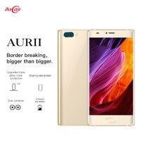 Original AURII RAM 1GB ROM 16GB Smartphone Dual Back Cameras 5.5'' Android 7.1 MTK6580A Quad Core OTG Dual SIM Mobile Pho