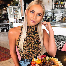 цены на Women Bodysuit Leopard Bodycon Top Snake Print Casual Bodysuit Sleeveless Turtleneck Jumpsuit Sexy Club Party Body Playsuit в интернет-магазинах