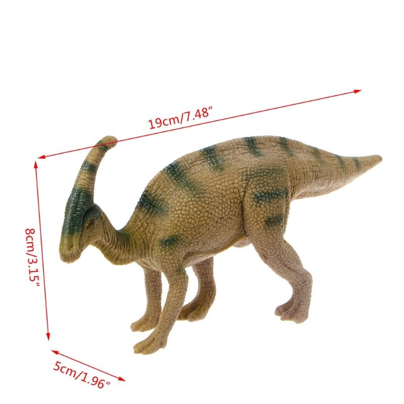 Parasaurolophus Dinosaur Action Figure Toys Hand Puppet  Kids Educational Model