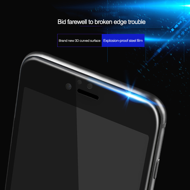 9D Curved Edge Full Cover Tempered Glass For iPhone 7 8 6 6S Plus Screen Protector on iphone7 iphone8 iphone6 iphone6s Glas Film 6