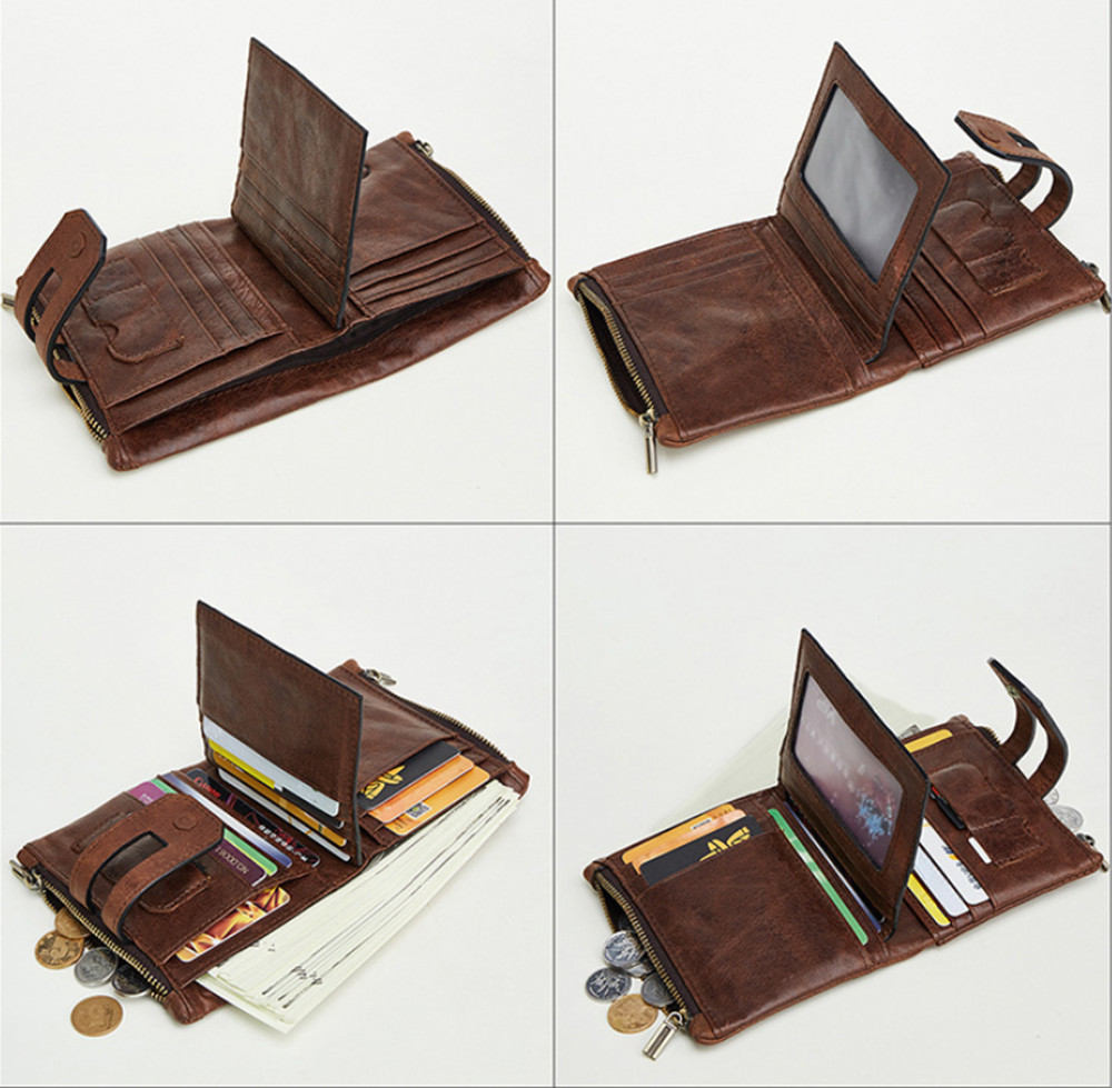 ferrolho design pequena carteira masculina de alta