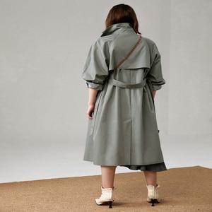 UK Marke neue Mode 2020 Herbst/Herbst Casual zweireiher Einfache Klassische Lange trenchcoat mit gürtel Chic Weibliche windjacke|Trench|   -