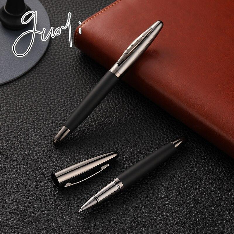 Guoyi C13 Creative Leather Metal Gel Pen For School Office Stationery Gift Luxury Pen Hotel Business Ballpoint Pen