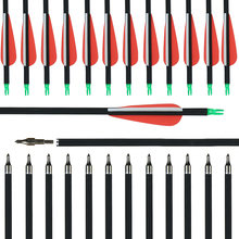 Углеродные стрелы 30 дюймов позвоночник 500 Смешанная углеродная