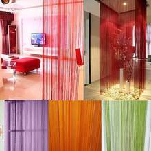 Vlakte String Deur Gordijn Scherm Scheidingswand Window Decor Diy Blind Tassel Drape(China)