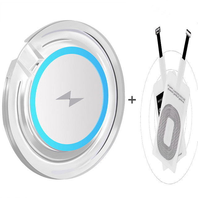 Wireless Charger Transmitter Qi Receiver For Apple iPhone 4 5 5S SE 6 6S 6 Plus Wireless Charger Pad For Samsung S10 S6