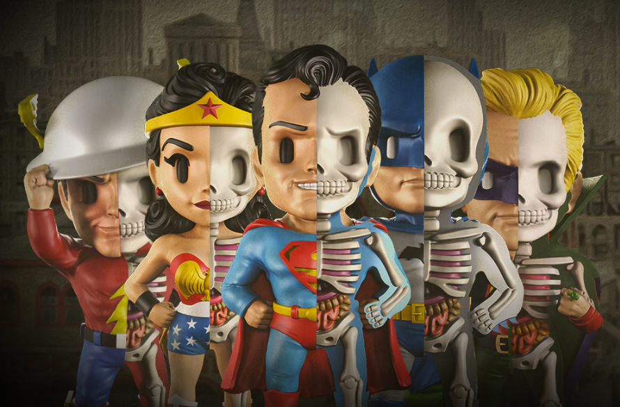Xray DC Series Superman Batman Green Lantern Flash Wonder Woman Goldenage  Anatomical  Medical Skeleton Model