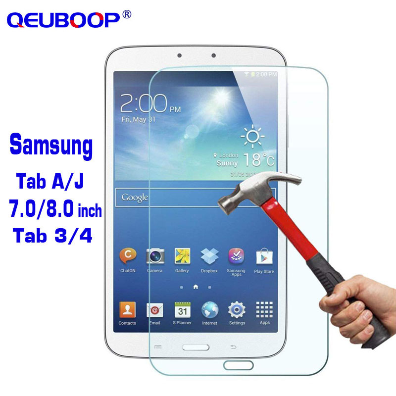 Tempered Glass For Samsung Galaxy Tab A J 7 8 Inch SM-T550 T555 T280 T285 Screen Protector For Tab 4 3 8.0 7.0 SM-T230 T235 T310