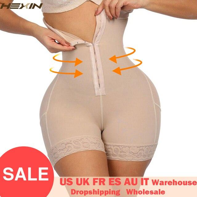 HEXIN الصدر الدانتيل بعقب رافع عالية مدرب خصر بذلة مفصلة لشكل الجسم النساء Fajas ملابس داخلية للتنحيل مع البطن تحكم سراويل داخلية