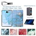 MTT чехол для samsung Galaxy Tab A A6  10 1 дюймов  Мраморная текстура  из искусственной кожи  трехслойный  флип  умный чехол  чехол для планшета  SM-T580  T585