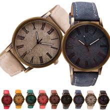 2020 prosty zegarek biznesmenów Retro Vogue męski zegarek Cowboy moda skórzany analogowy zegarek kwarcowy człowiek zegar tanie tanio OTOKY 23cm Moda casual QUARTZ 3Bar Klamra STAINLESS STEEL Szkło Nie pakiet Płótno 40mm 2020 Men Watch 20mm ROUND Brak
