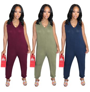 Women New Strap Jumpsuit Solid Color Sleeveless Fashion Casual Summer Ladies Jumpsuits High Street Sexy Romper sexy sleeveless jumpsuit women long romper new summer women lady fashion jumpsuit coveralls sexy female black bow jumpsuits