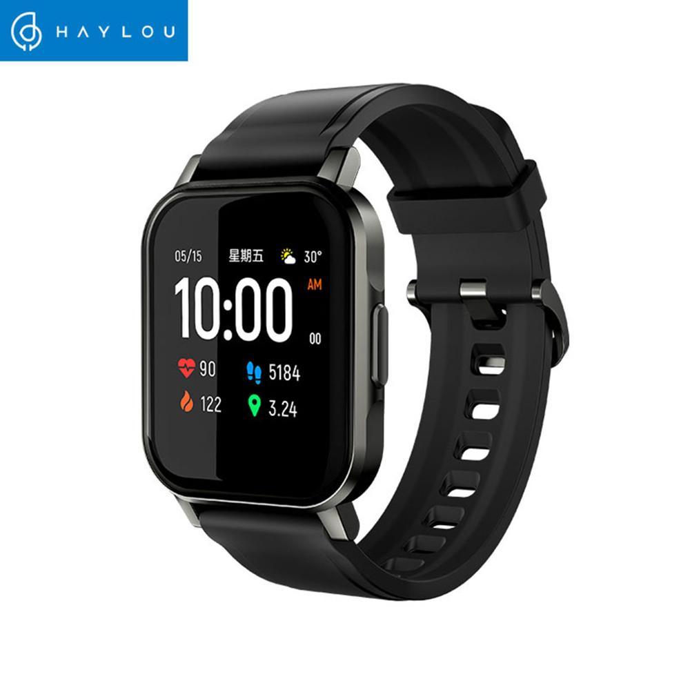 Haylou LS02 Smart Watch Sport круглый металлический чехол монитор сердечного ритма во время сна IP68 Водонепроницаемый iOS Android глобальная версия-1