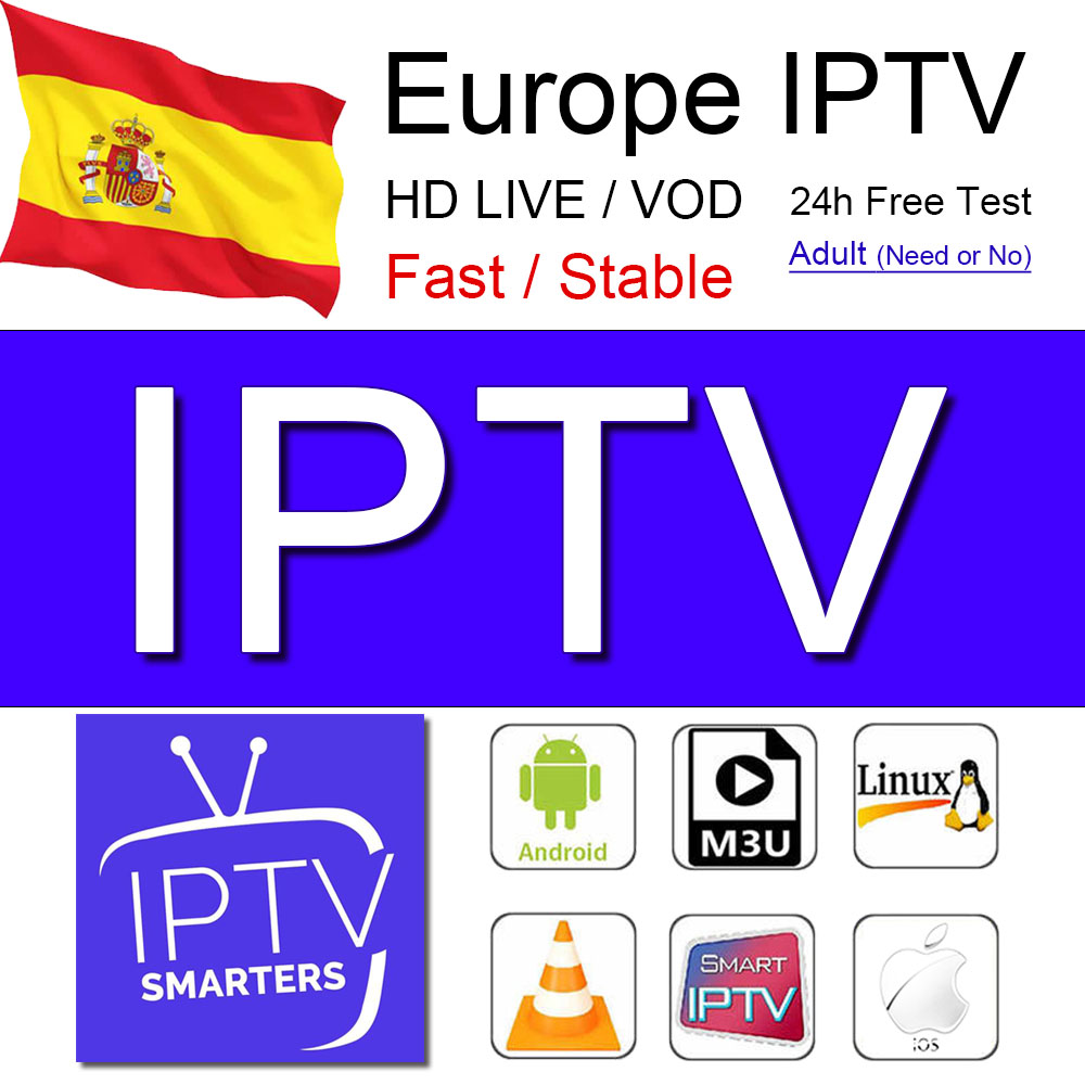 Iptv Spain Subscription M3u Iptv Is Used In Spain, Netherlands, Sweden, Israel, Enigma2 Smart TV Subscription, Android TV Box