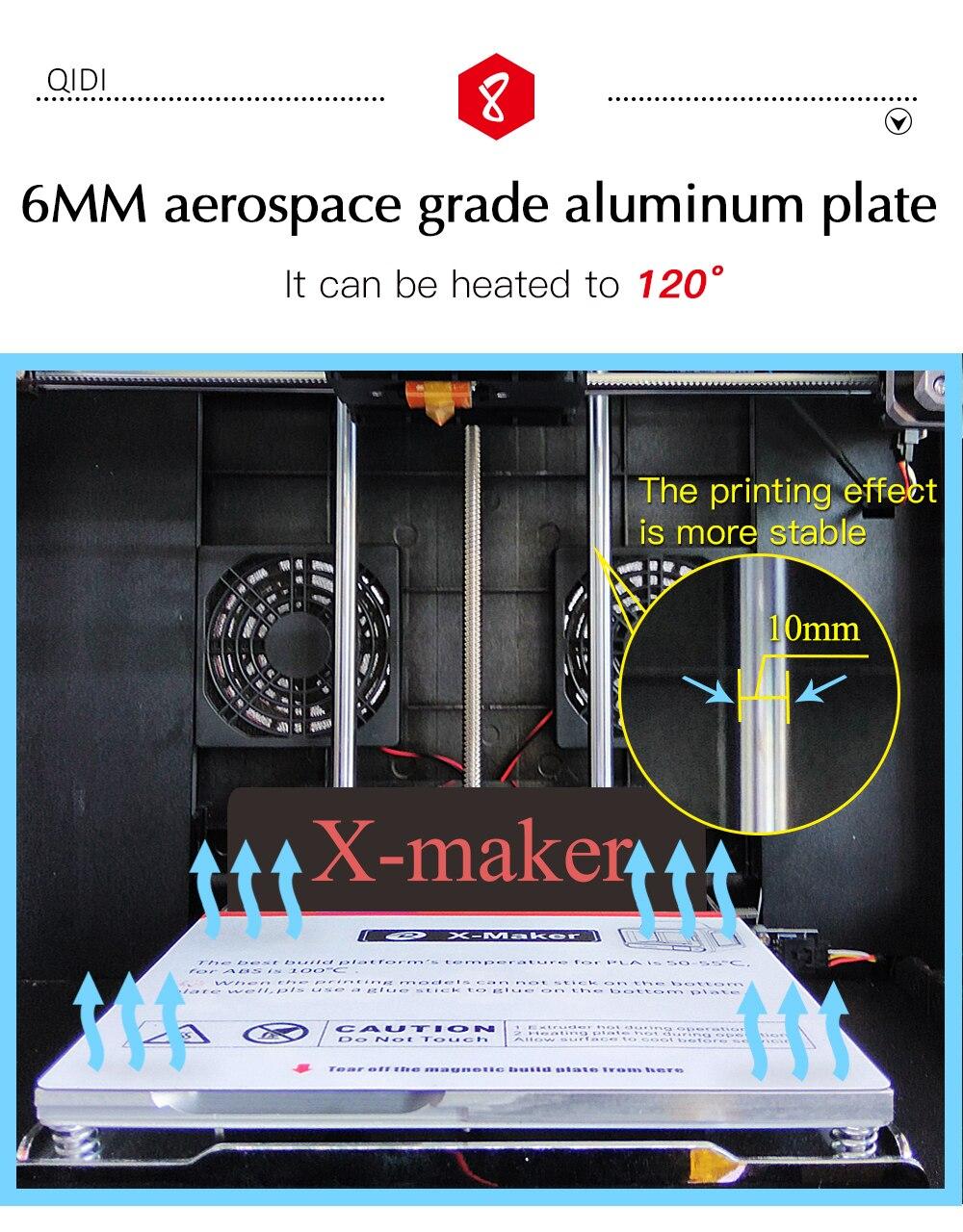 QIDI TECH X-Maker 3D Printer with Camera Wifi Touch Screen Single Nozzle Printing 16