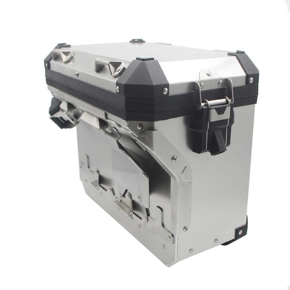 Para R1200GS ADV LC R1250GS/ADV LC 2014-2019, alforjas de motocicleta, alforja, caja superior, acero inoxidable, estilo original