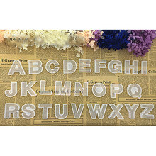 26 DIY Moldes De Silicone Letra do alfabeto A ~ Z Molde de Resina Epóxi Resina Artesanato Fazendo Ferramenta atacado