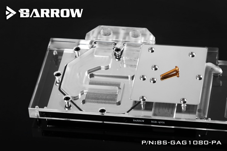 Barrow BS-GAG1080-PA, LRC 1.0 Full Cover Graphics Card Water Cooling Block for GALAXY GTX1080 / 1070/1060 Gamer