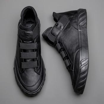 Novedad en zapatos de cuero para hombre, mocasines cómodos de tendencia coreana, zapatos de moda británica para hombre, zapatillas de alta calidad, mocasines nuevos para hombre