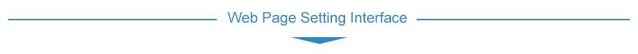 Web Page Setting Interface