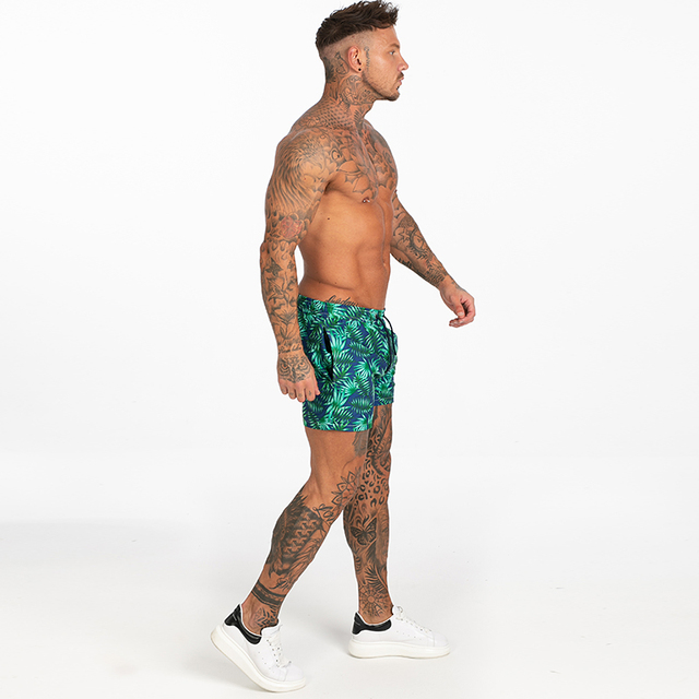 Mens Swim Trunks Mesh Lining Men Board Shorts with Pockets Swim Wear for Surfing, Swimming Summer Holiday Bathing Suits Fast Dry 4