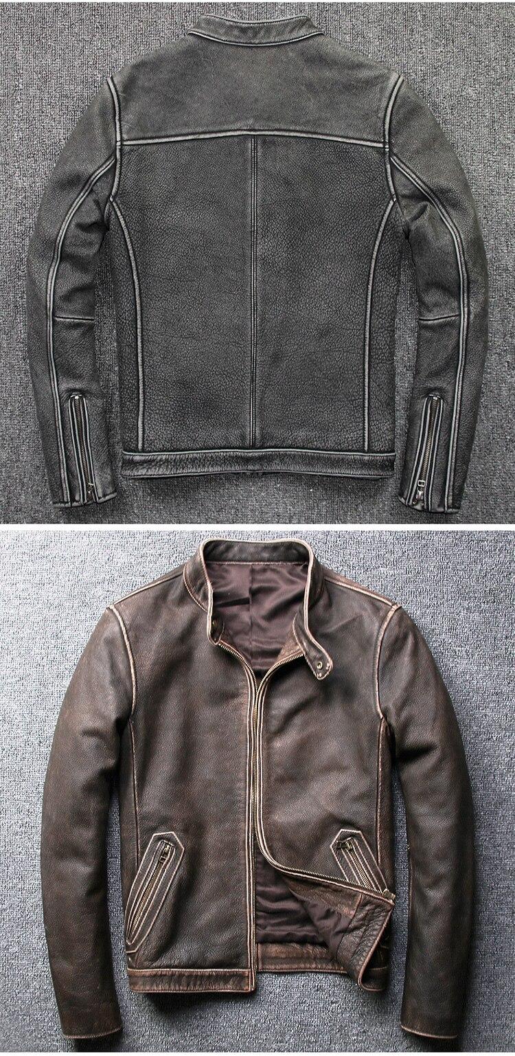H4fe9279c99f844aba97ac0c458c95debg Tcyeek Winter Autumn Genuine Leather Jacket Men Streetweaar Real Sheepskin Coat Man Moto Biker Vintage Cow Leather Jackets 805