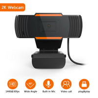 2K Gaming Web Kamera USB Kamera, Webcam Mit Mikrofon, Youtube,Video, Lernen Webcam, für PC Computer Laptop Notebook