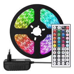 Светодиодная лента RGB 2835 / 5050 SMD, гибкая лента, светодиодный светильник, 5 м, 10 м, диод постоянного тока, 12 В, адаптер дистанционного управления