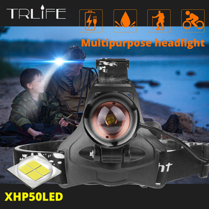 Image 1 - Lampe frontale Xlamp xhp50, haute puissance USB Led très brillante, lampe torche avec 3 x phare led mm dorigine, 18650