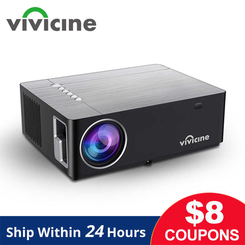 Vivicine M20 הכי חדש 1080p מקרן, אפשרות אנדרואיד 9.0 1920x1080 מלא HD LED קולנוע ביתי וידאו מקרן מקרן תומך AC3