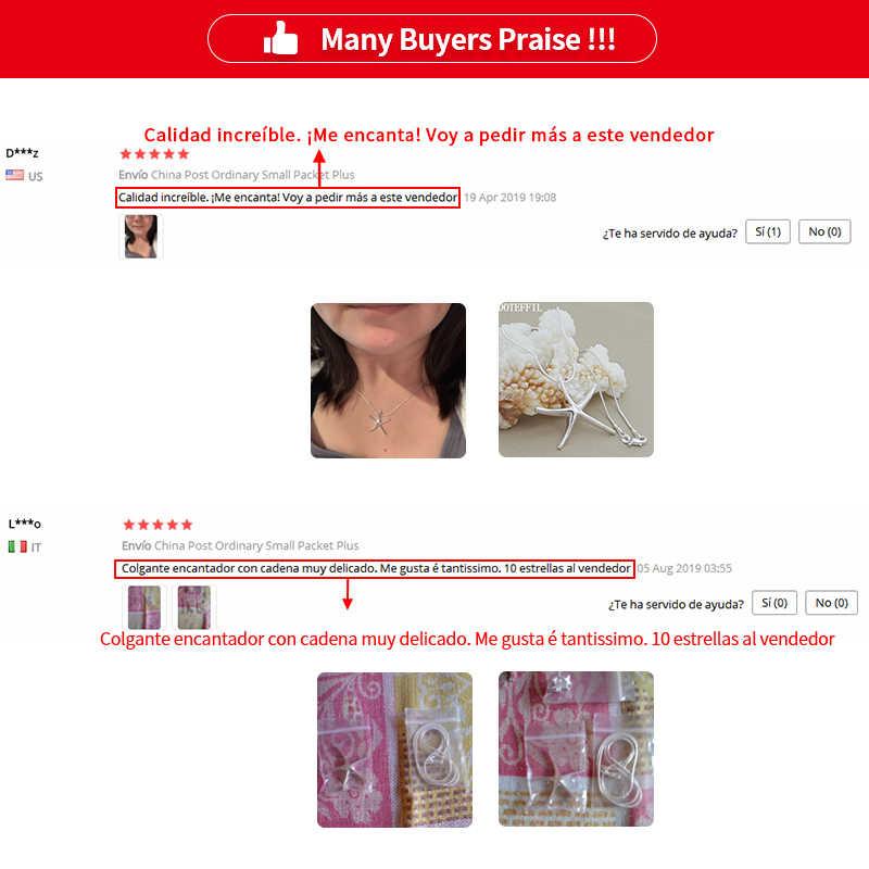 1 個 925 シルバーカラーのファッションスターの魚のネックレスのペンダントネックレス卸売女性ジュエリークリスマスギフトホット販売