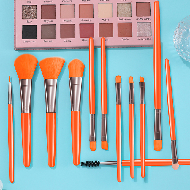 BANFI Blue Makeup Brushes Set Cosmetic Powder Solid Eye Shadow Foundation Blush Blending Beauty Tool Make Up Brush Maquiagem 3