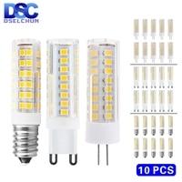 Bombilla LED de mazorca de maíz, Mini lámpara LED G4 G9 E14 de 3W, 4W, 5W, 7W, 220V, SMD2835, reemplaza 30W, 40W, 60W, lámpara de halógeno, 10 unidades por lote