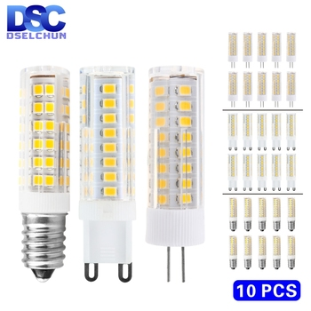 10pcs/lot G4 G9 E14 LED Bulb 3W 4W 5W 7W Mini Lamp 220V Corn SMD2835 Replace 30W 40W 60W Halogen Chandelier Lights