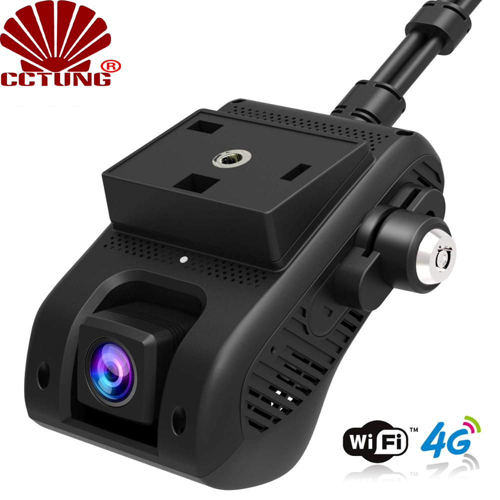 JC400 4G Smart Car GPS Tracking Dashcam With WIFI Hotspot & Dual 1080P Video Cloud Recording Live SOS Alarm By Free Mobile APP