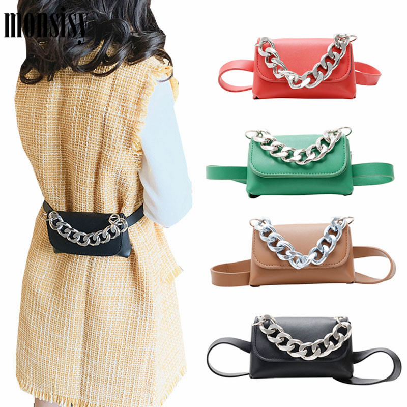 Monsisy 2020 New Waist Bag For Girl Women Fanny Pack Mini Totes Children Wallet Coin Purse Pouch Belt Bag Ladies Kid Chest Packs
