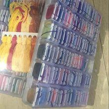50 шт. коробка набор разных цветов нитки для вышивки крестом нить длиной 8 метров 6 нитей крестиком мотки