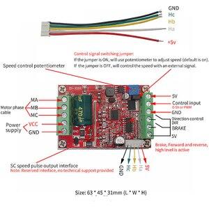 Image 3 - 6 72v 400w bldc 3 fase dc brushless controlador do motor pwm hall driver de controle do motor placa 12v 24v 48v 72v para a frente reverso