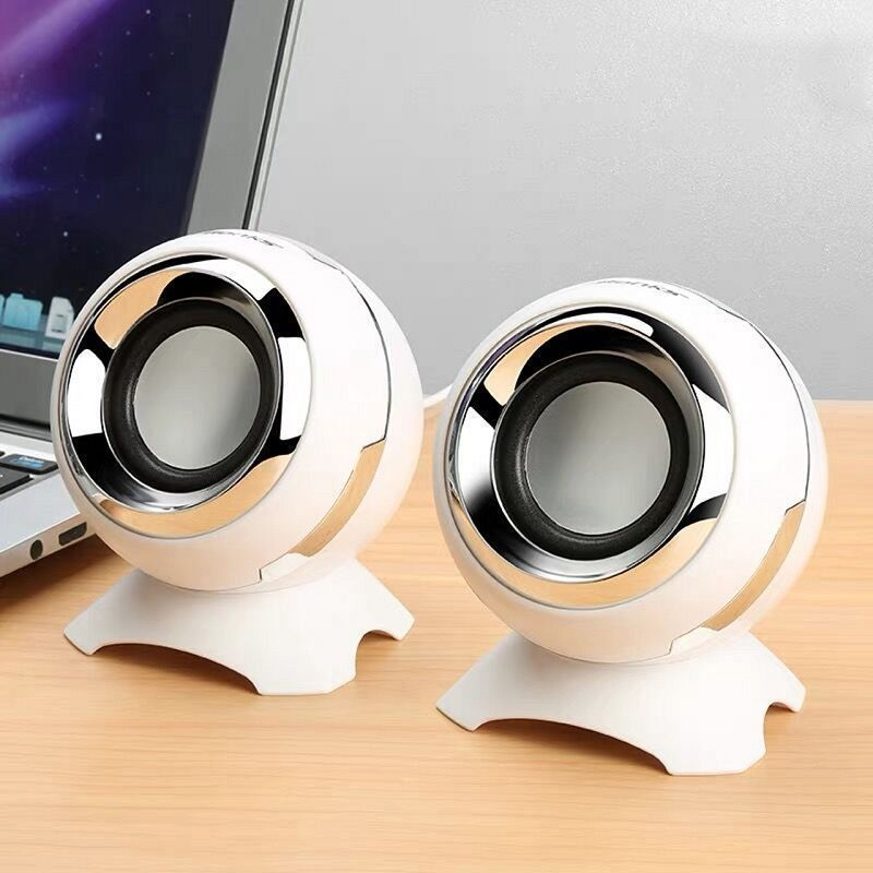 A Pair Wired Mini Computer Speakers Bass Horns For Laptop Desktop Phone Powerful Speaker USB AUX Audio Multimedia Loudspeaker
