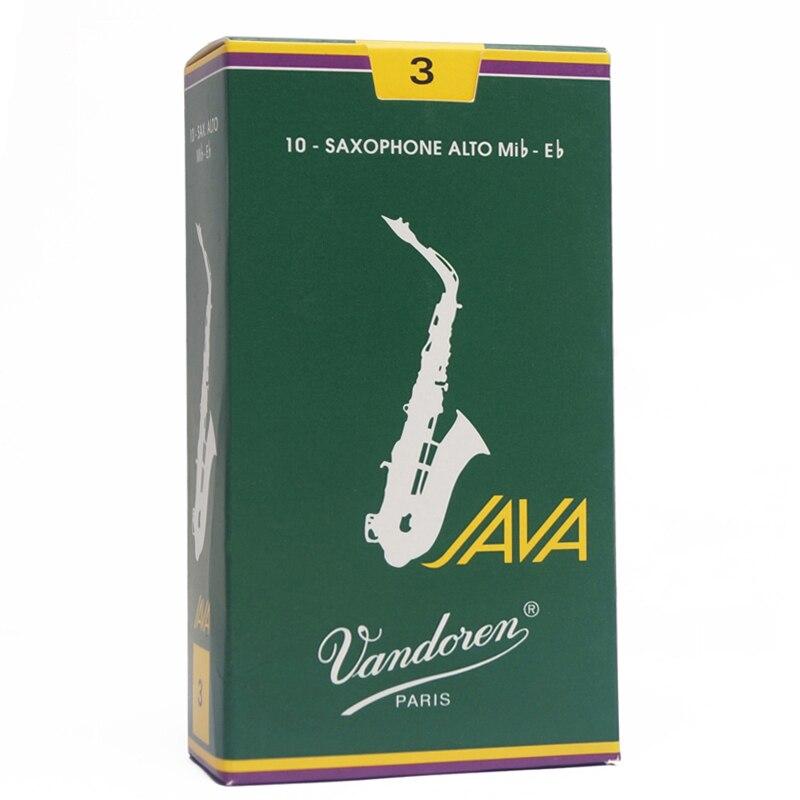 França caixa verde Java Vandoren palhetas para saxofone alto Eb