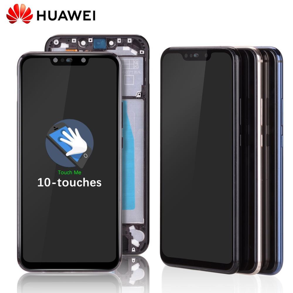 LCD Para HUAWEI Mate 20 Lite lx1 sne-lx1 Display Tela Touch Frontal Com Aro Completo Módulo Visor Original Preta Dourado