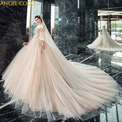 Romantic Luxury Maternity Long Sleeve Princess Wedding Dress Pregnancy Dress Bride Gown Bridal Dresses For Pregnant  Clothes